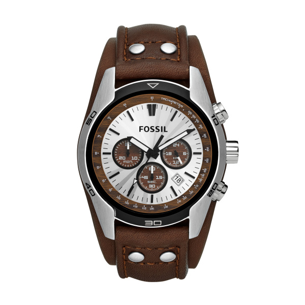 Fossil Herrenuhr Chrono Lederband